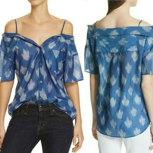 THEORY | Tamalee Ikat Off The Shoulder Top L NWT!